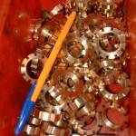 écrou bronze cannelée travail en série