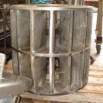 Turbine à aube inox de grande taille D 800/1200 usiné