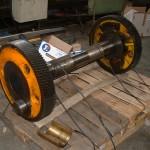 engrenage double réparé portée de roulement usé grande dimension pour cartonnerie