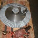 Pignon conique D 650 acier 42 CD 4 T