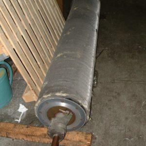 Réparation rouleau de carde pioche plié