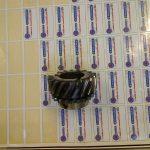 boite de vitesse simca panhard Pignon double denture acier 16 NC 6 D 58/35 tourné fraisé sur centre d'usinage outils spécial cementé trempé 53 hrc rectifié cylindrique au modèle pas de rectification de denture SIMCA REP 2
