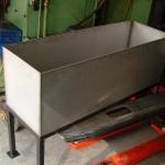bac en inox 304L pour imprimerie plié soudé étanche