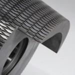 détails de la denture conique hélicoïdale d'un coloïdal broyeur à sucre industrie alimentaire chocolaterie
