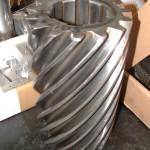 engrenage hélicoïdale cannelée long pour machine outils
