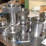 engrenages helicoïdaux pour machine outils