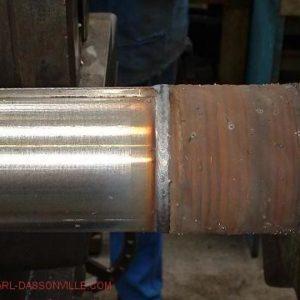Rouleau réparation des pioches soudure MIG