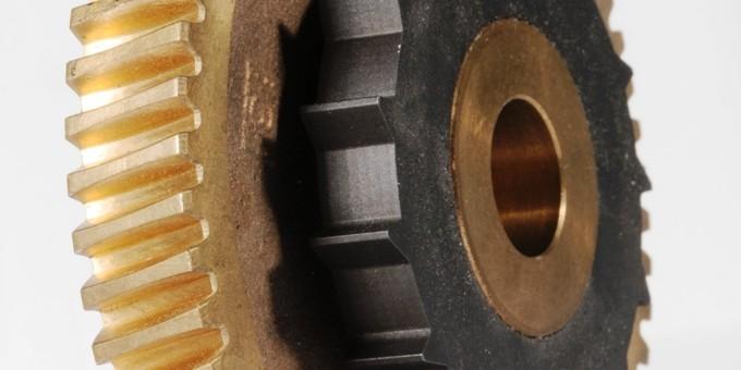 Roue à vis en bronze UE 12 avec rochet en acier trempé