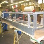 Structure aluminium pour soufflerie ONERA