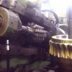 taillage d une grosse roue à vis bronze module 10