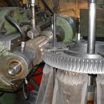 Roue à vis fonte taillé par génération usinage complet tournage fraisage taillage mortaisage au modéle