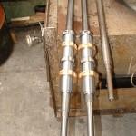 vérin mécanique composé de vis écrou bronze pas trapézoïdale