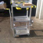 chariot suiveur aluminium pour toyota mécano soudé