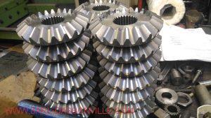 Pignon conique 22 dents avec cannelure intérieur double traitement thermique