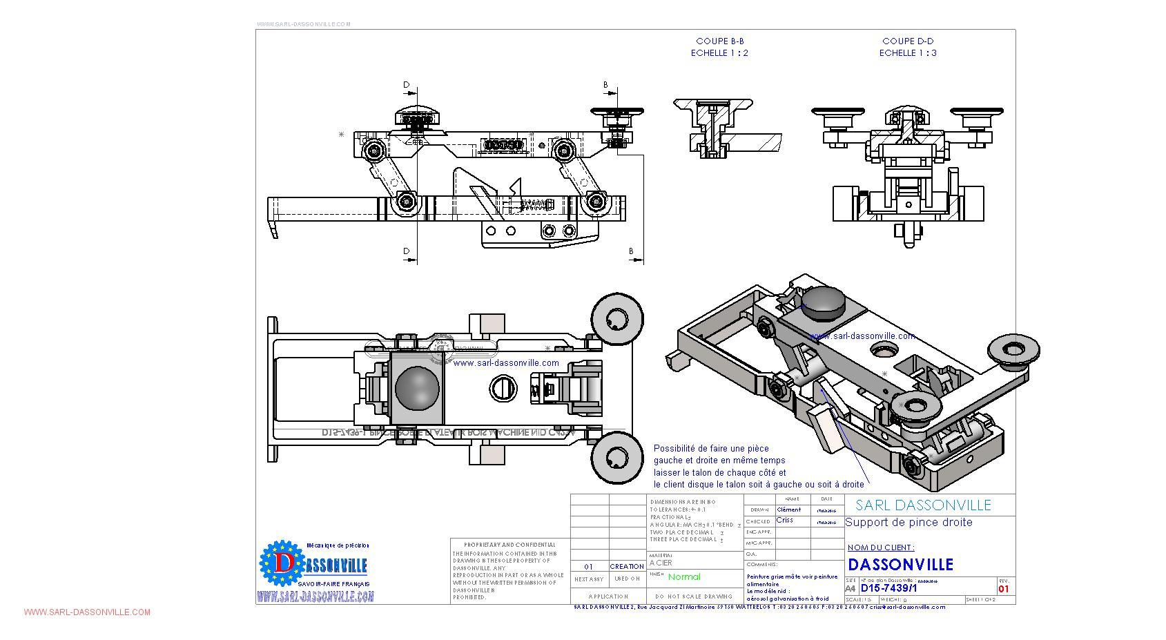 Bureau etudes mecanique sarl dassonville for Plan de conception