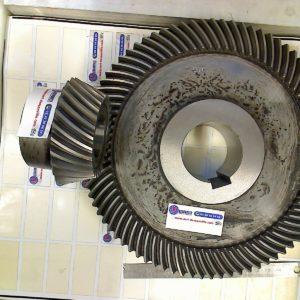 Couple spiral 27X81 D M2.5 Fourniture complète cementé trempé denture rodée 0139-115+114