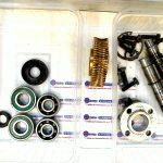 Réducteur ensemble roue et vis sans fin démontage complet pour devis réparation complète