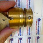 Bagues bronze UE12 De 40-39 tourné fraisé sur centre de tournage CN 4 encoches (au lieu de 2) au modèle Pompe 660 Rep 120
