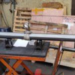 Arbre acier pour ventilateur acier C45 D 100 h7 2135 réalisé sous 2 jourstourné CN fraisé sur centre d'usinage suivant plan 226-90/3 croquis 241 A