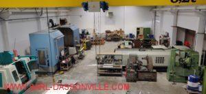vue d' ensemble du nouvel atelier avec nouveau pont roulant 3.2 T