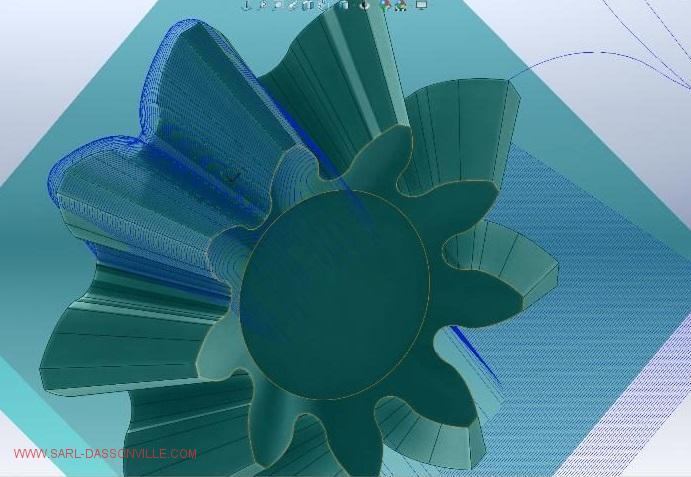 Pignon-conique-module-spécial-modélisé-pour-usinage-3-axes-